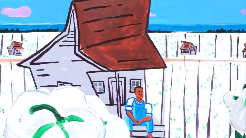 为纪念蓝调之王B.B.King94岁诞辰的涂鸦动画短片