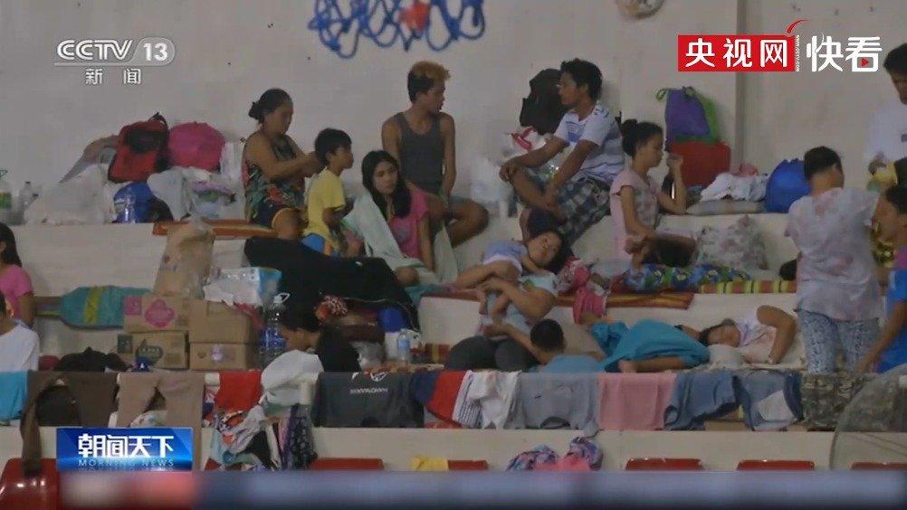 菲律宾塔阿尔火山持续喷发 中国驻菲使馆捐赠救援物资