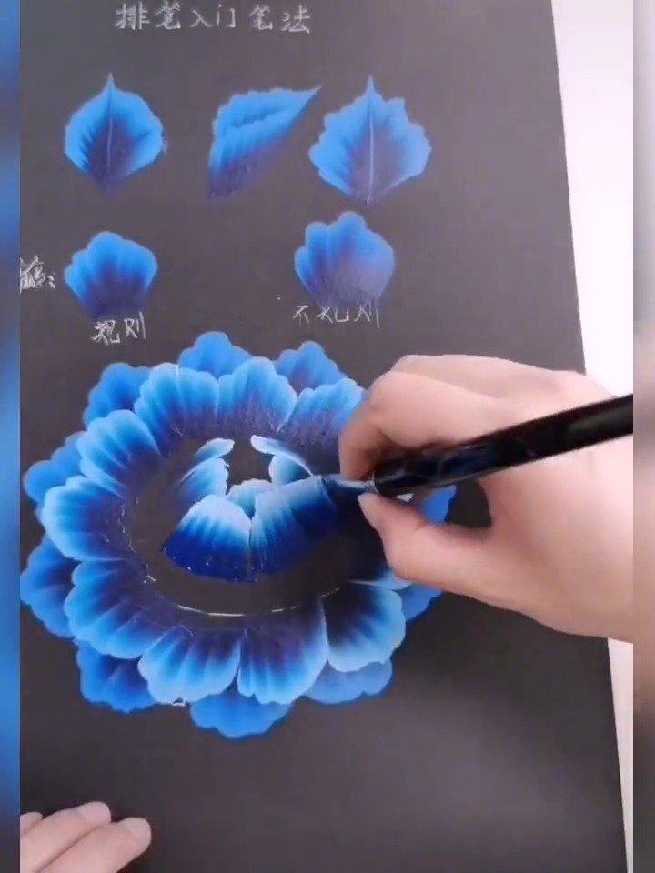 排笔的画法,这才是真正的笔刷吧