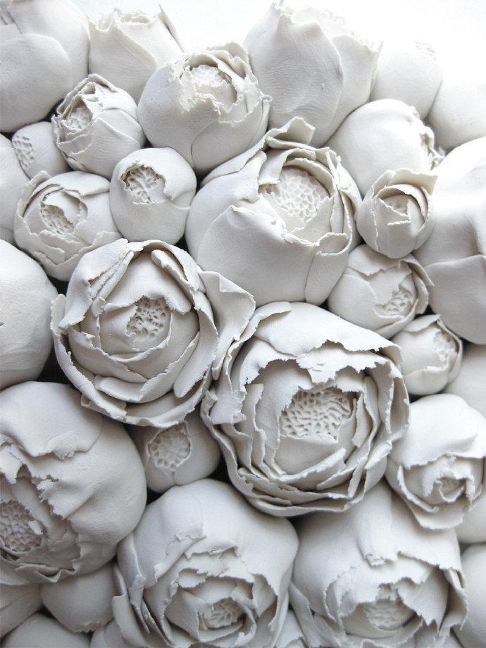 栀子花、罂粟花、真菌和海洋生物融合