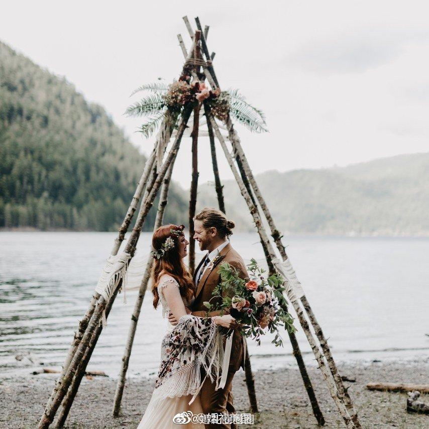 尖顶帐篷,波西米亚婚礼最标志的元素之一,你喜欢这种风格吗?