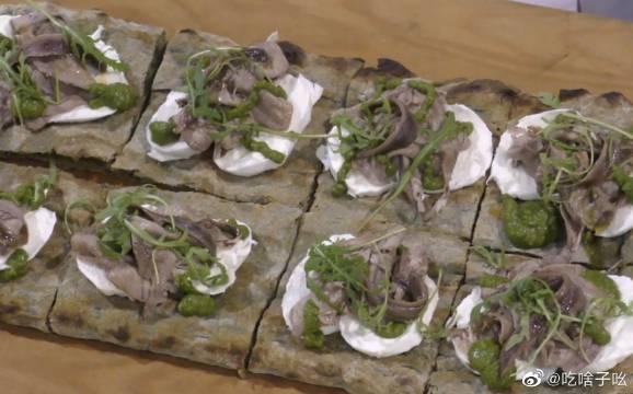意大利绿色披萨螺旋藻做成饼皮