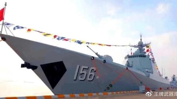 喜讯!海军首艘改进型052D驱逐舰服役了,具有发现隐身战机的能力