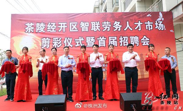 10月10日,茶陵经济开发区智联劳务人才市场的启用。当天