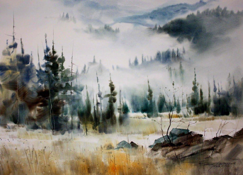 水彩画家 Hanna Jakobsen 风光绘画作品。