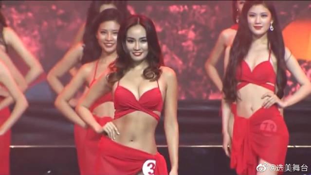 世界华裔小姐选美,T台比基尼走秀,魅力十足!