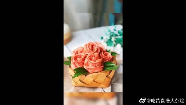 玫瑰花馒头颜值高,母亲节送给母亲最暖心的礼物!