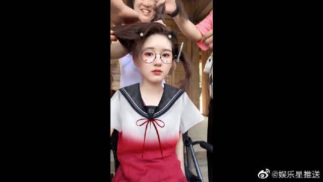 赵露思姐姐穿校服的样子好可爱啊!你心动没?
