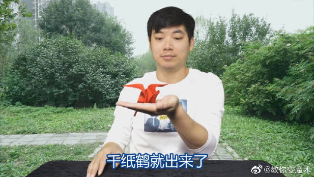 揉烂的丝巾还能自动折出千纸鹤?这个魔术也太神奇了吧