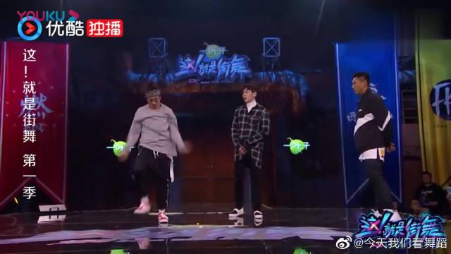 这!就是街舞:谢文珂吐水挑衅杨文昊,昊昊看后一脸不屑的走开了!