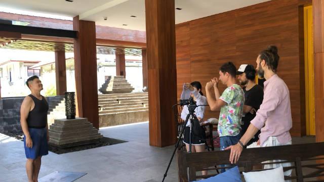 巴厘岛瑜伽晨练拍摄小花絮