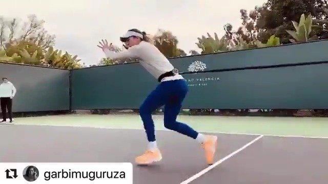 前温网冠军穆古鲁扎积极投身训练