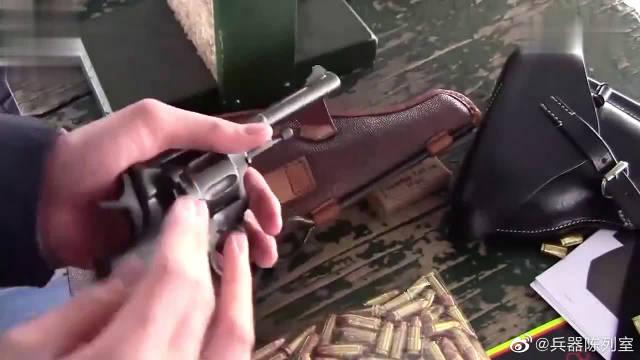 俄罗斯M1895纳甘转轮手枪射击实测,采用埋头特种弹供弹七发