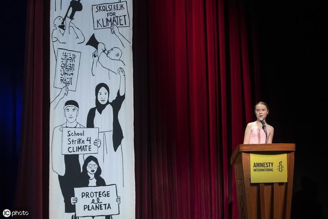 瑞典环保小公主桑伯格,在美国发表演讲