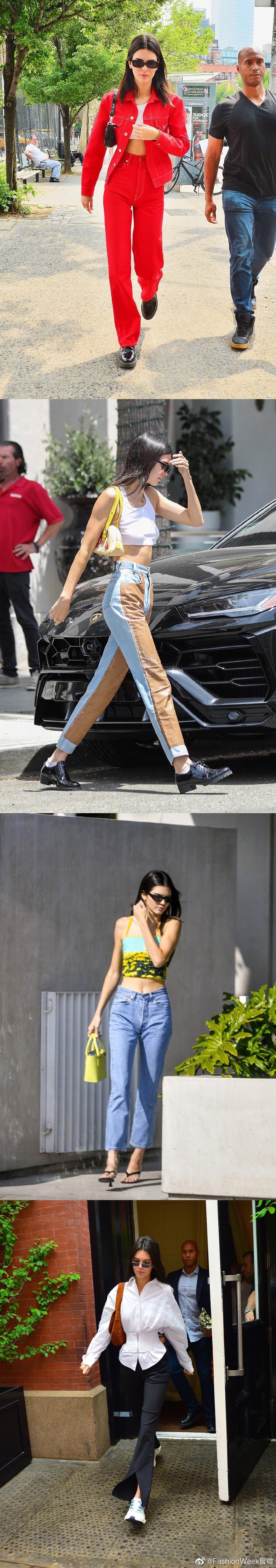 Kendall Jenner夏日街拍合集,缤纷挎包点亮不同造型~