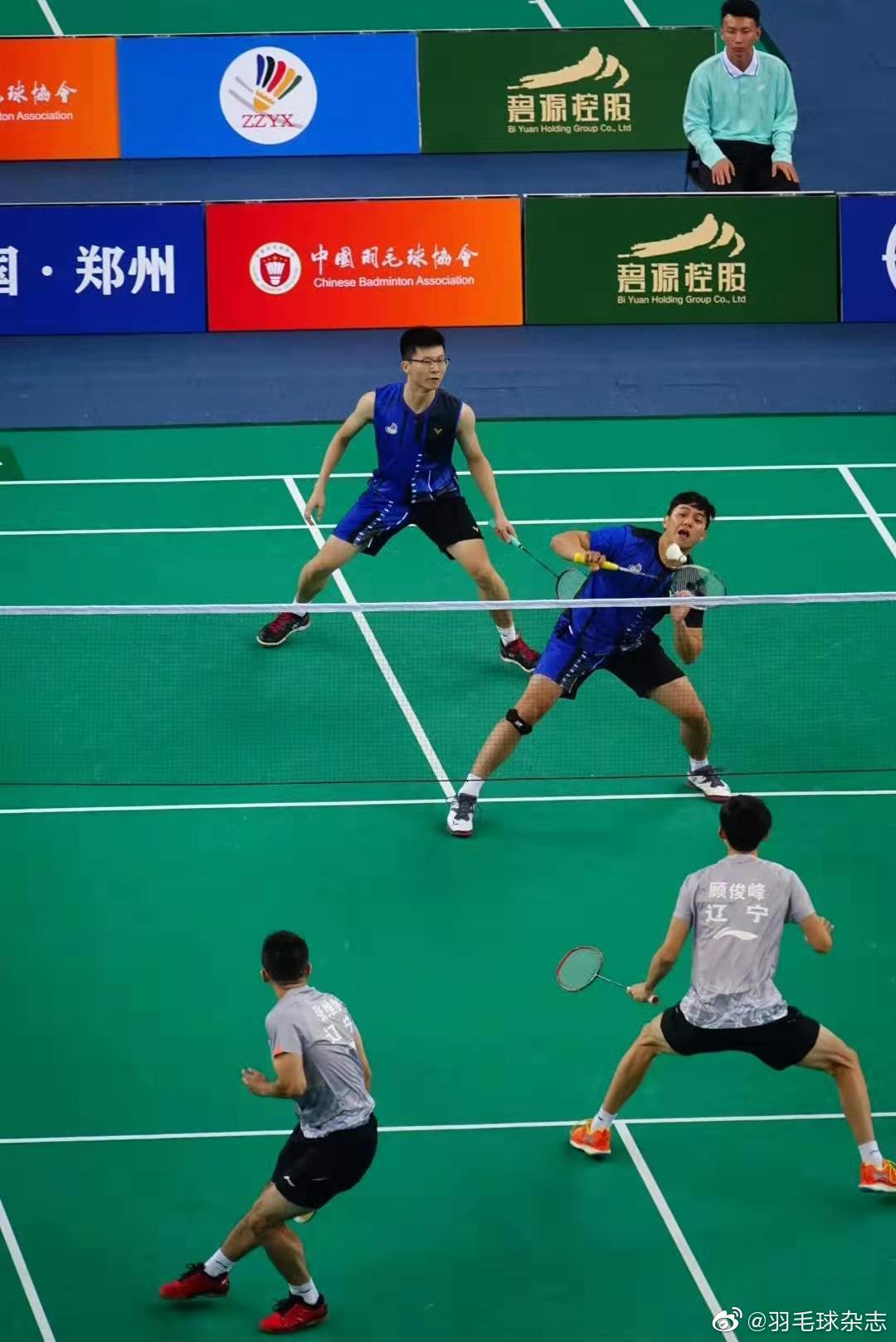 全国羽毛球单项冠军赛郑州挥拍