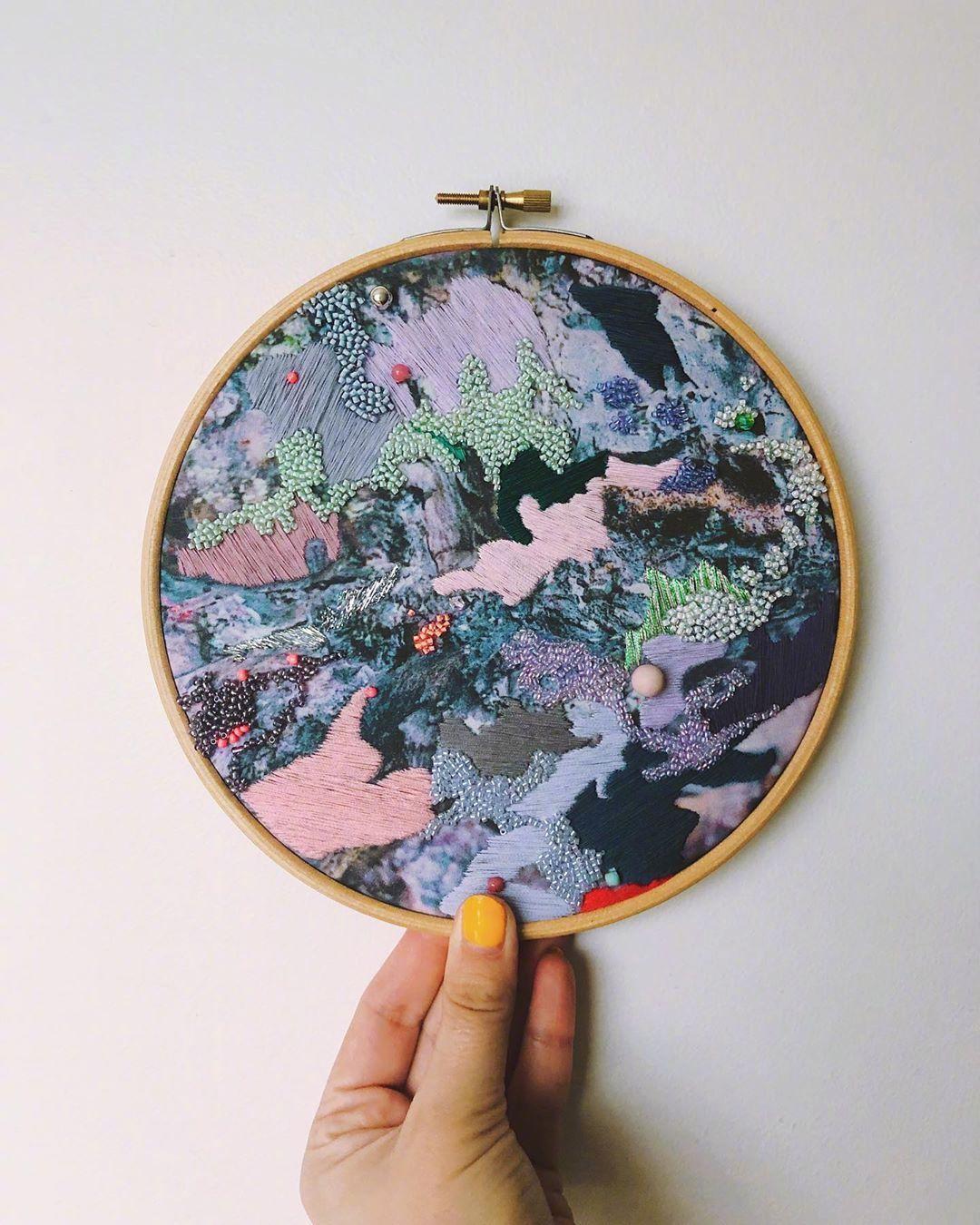 艺术家 Emily Botelho 刺绣作品   |   blainey.mit