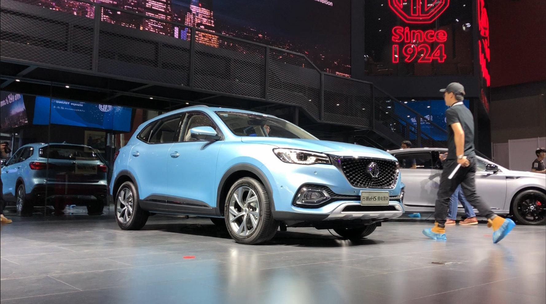 在本届2019广州车展上,名爵eHS这款插电混动车型也是受到很多关注