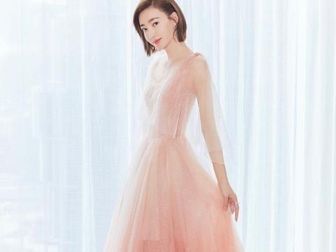 粉色长裙,仙气十足-王丽坤