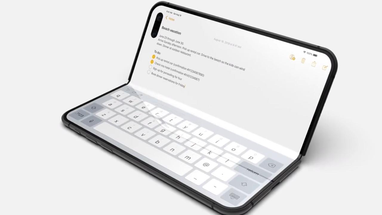 折叠屏iPhone手机曝光,在创新上苹果果然不会让人失望!