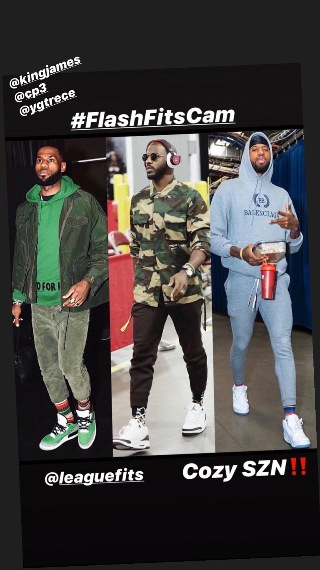 在社交网站发布球员们的时尚入场照,