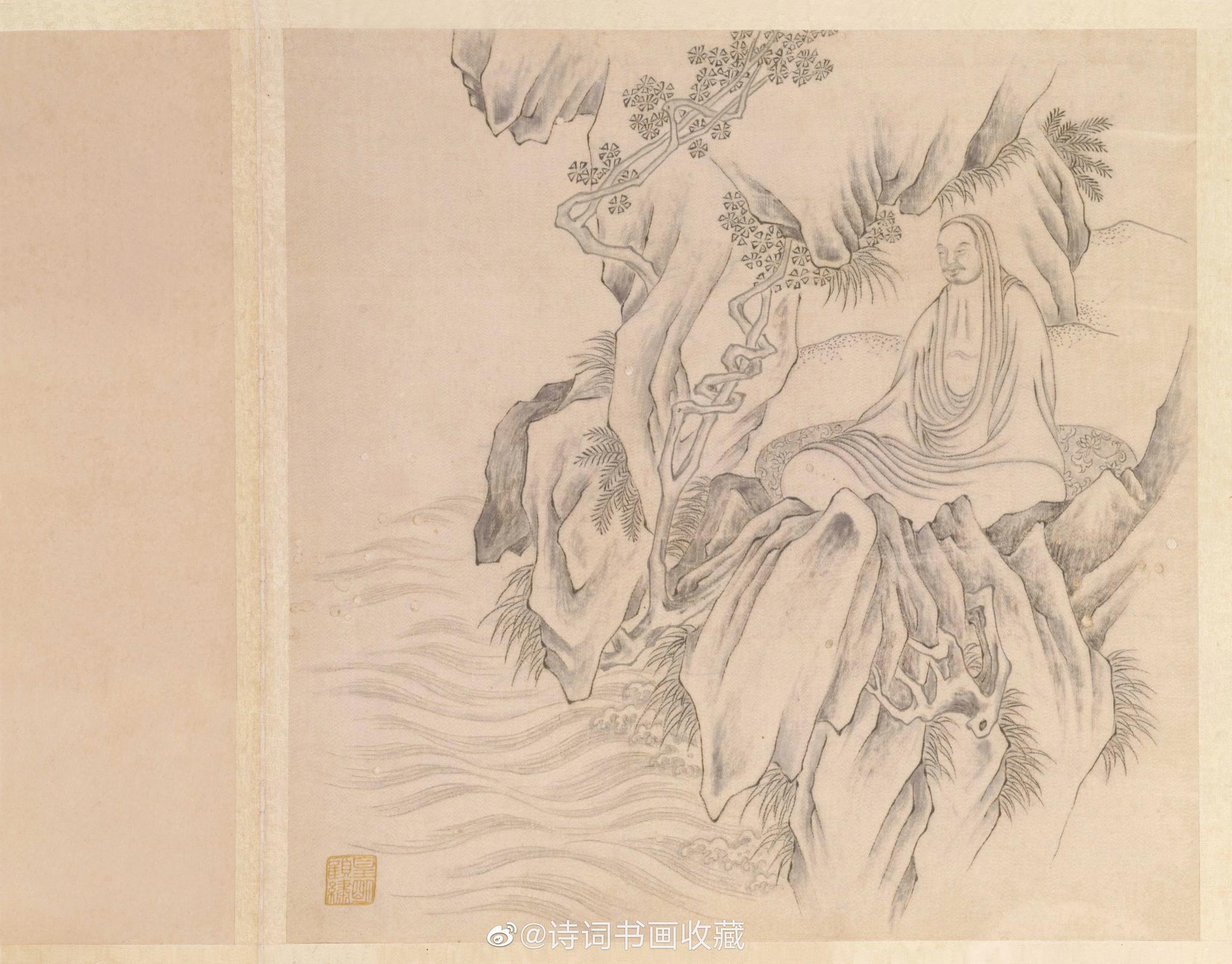 明代顾绣十六应真册,北京故宫博物院藏品