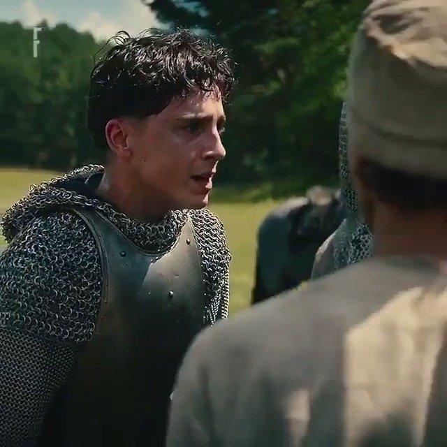 蒂莫西·柴勒梅德在影片《The King兰开斯特之王》中一段具有爆发力的