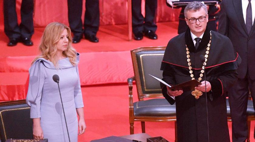 45岁苏珊娜·恰普托娃宣誓就职 成为斯洛伐克首位女总统也是最年轻总统