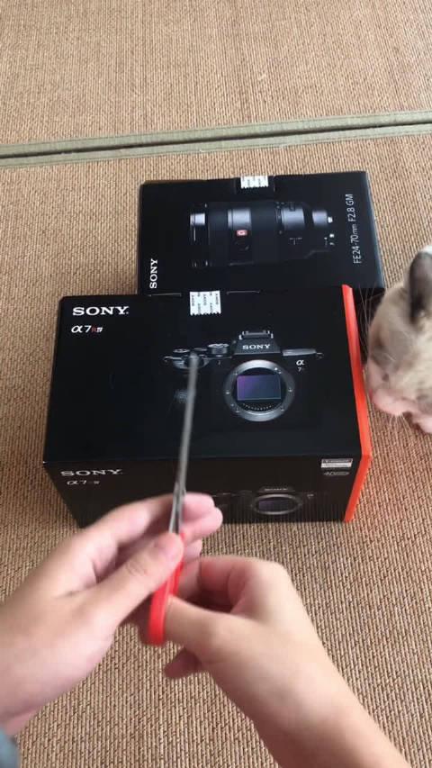 索尼A7R4开箱录一个开箱视频不容易啊,团团老是捣蛋。