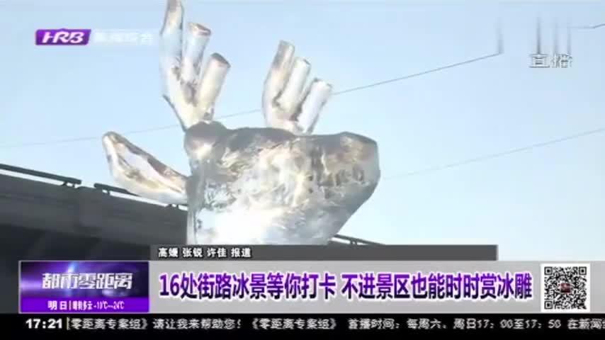 """哈尔滨街头冰雕雪塑移步换景!16处""""景区级""""街路冰景等你来打卡"""