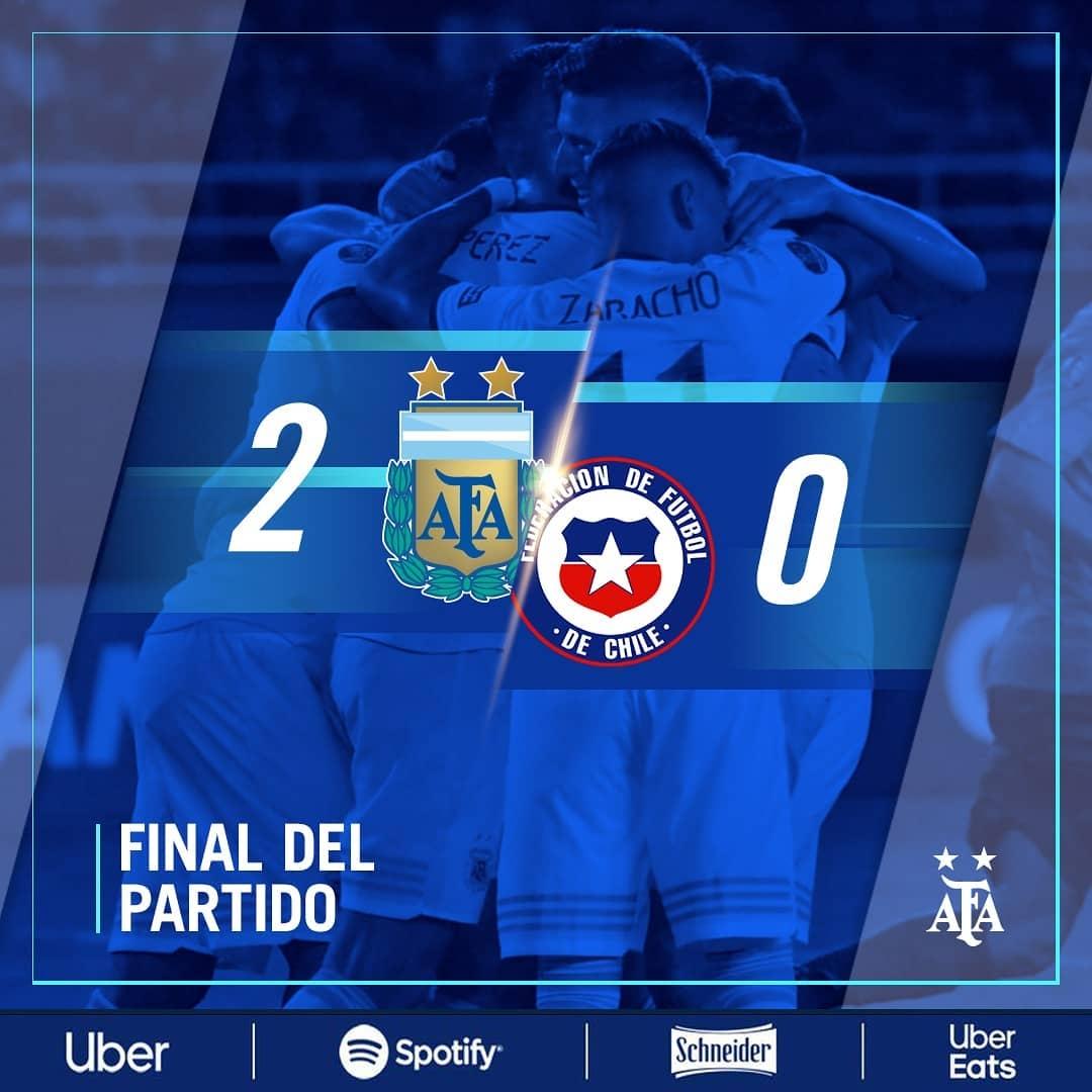 阿根廷U23小将们在奥预赛2:0智利,取得这项赛事两连胜