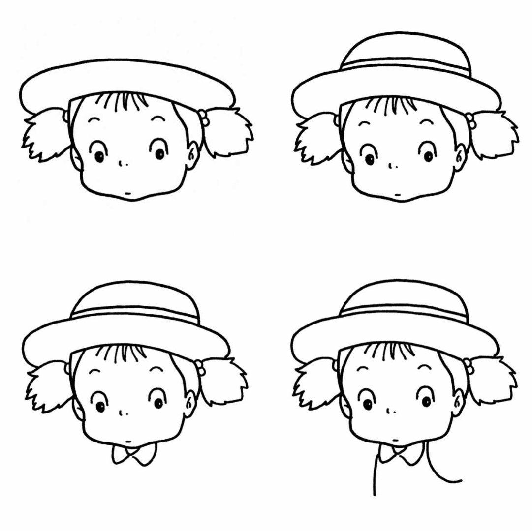 小女孩简笔画教程@爱画画的橙子