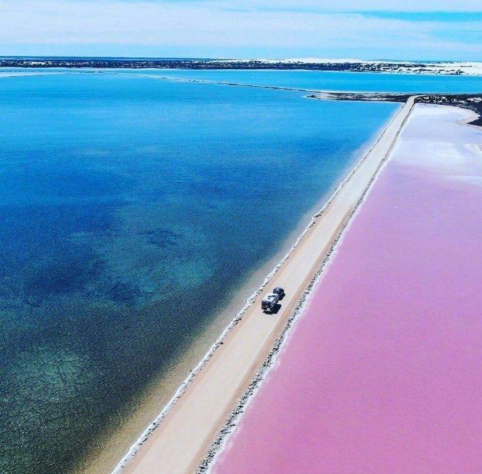 麦克唐纳尔湖好像切开的彩虹蛋糕