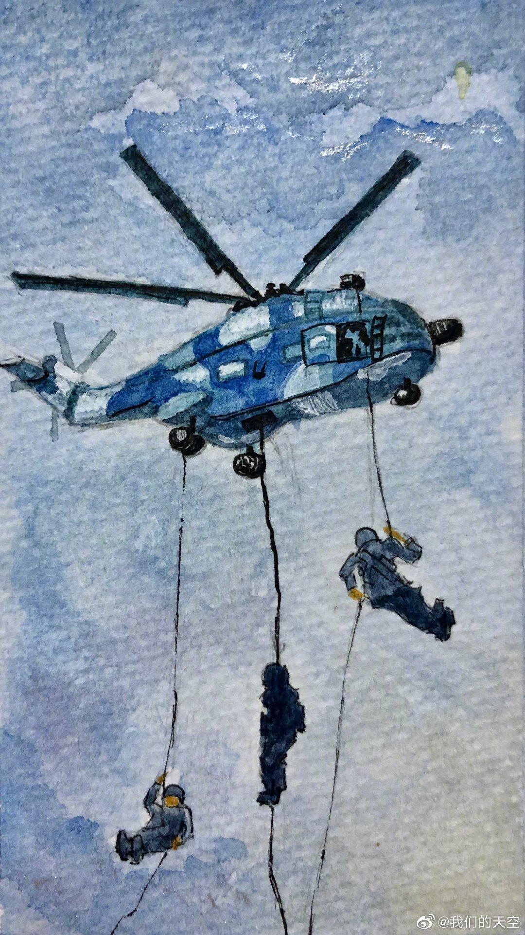 一组超酷手绘漫画,带你看新时代的空降兵