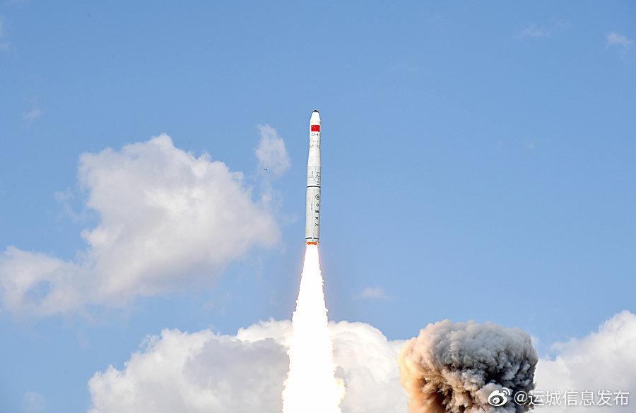 9月19日14时42分,我国在酒泉卫星发射中心用长征十一号运载火箭