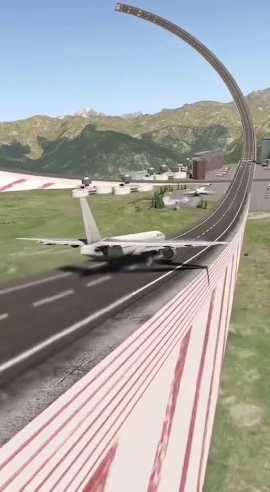 一位网友的设计,解决了飞机起飞不稳问题