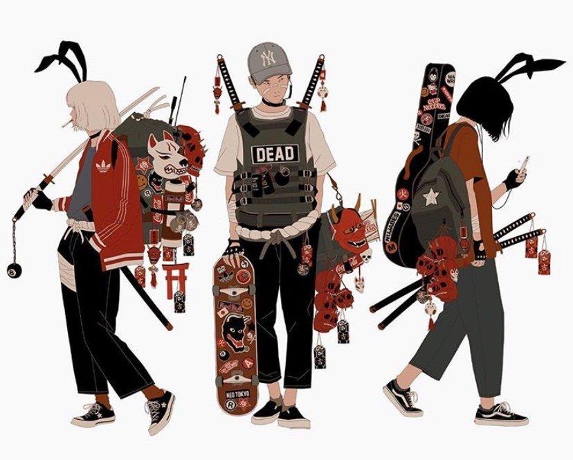 阿根廷插画艺术家 Mau Lencinas  一组人物立绘xmau.tumblr.com