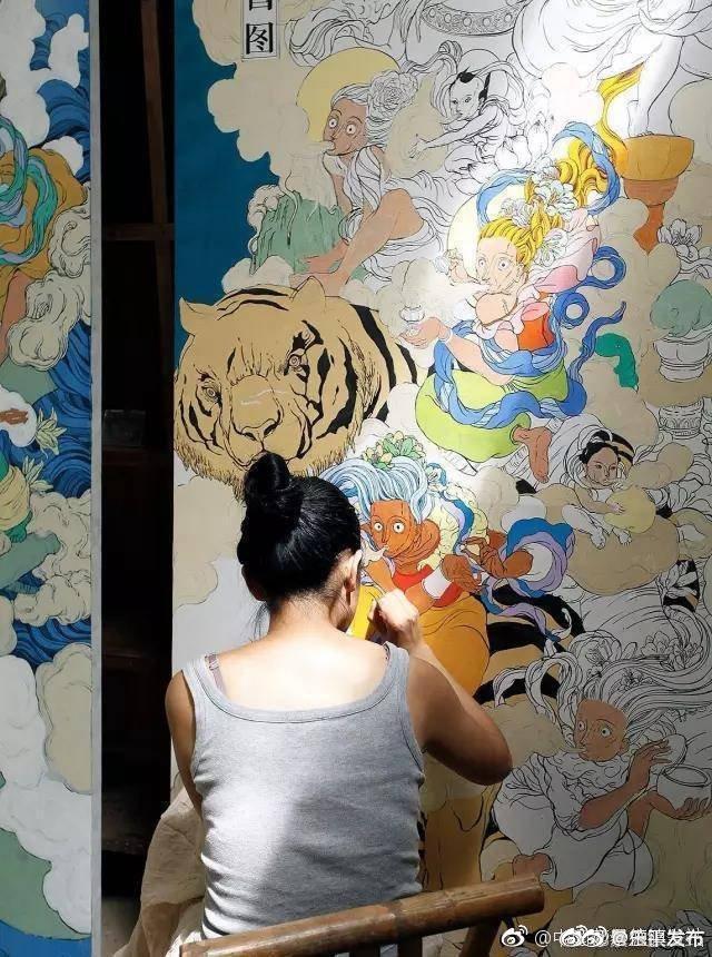 神怪文娜景德镇——壁画里的飞天