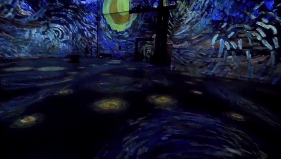 《文森特·梵高》数字艺术展,沉浸在繁星点点的夜晚~