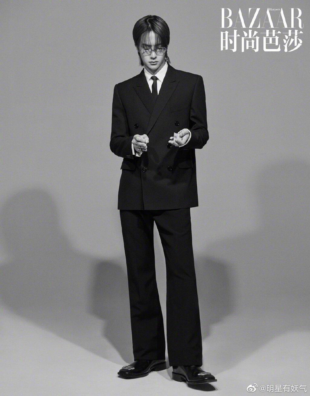 王一博 X《时尚芭莎》 复古潮流,高级时尚…这组LOOK也太酷了吧!