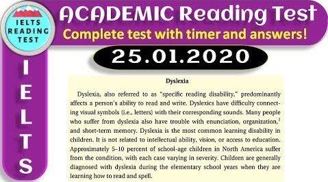 雅思阅读:学术类阅读真题计时模拟20200125(高清原文+答案)