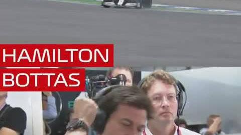 汉密尔顿和博塔斯失误对比
