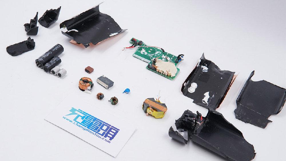 拆解报告:HP惠普笔记本电脑65W PD快充充电器TPN-LA12