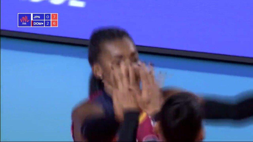 多米尼加核心德拉克鲁兹在今天击败日本的比赛中独得了35分