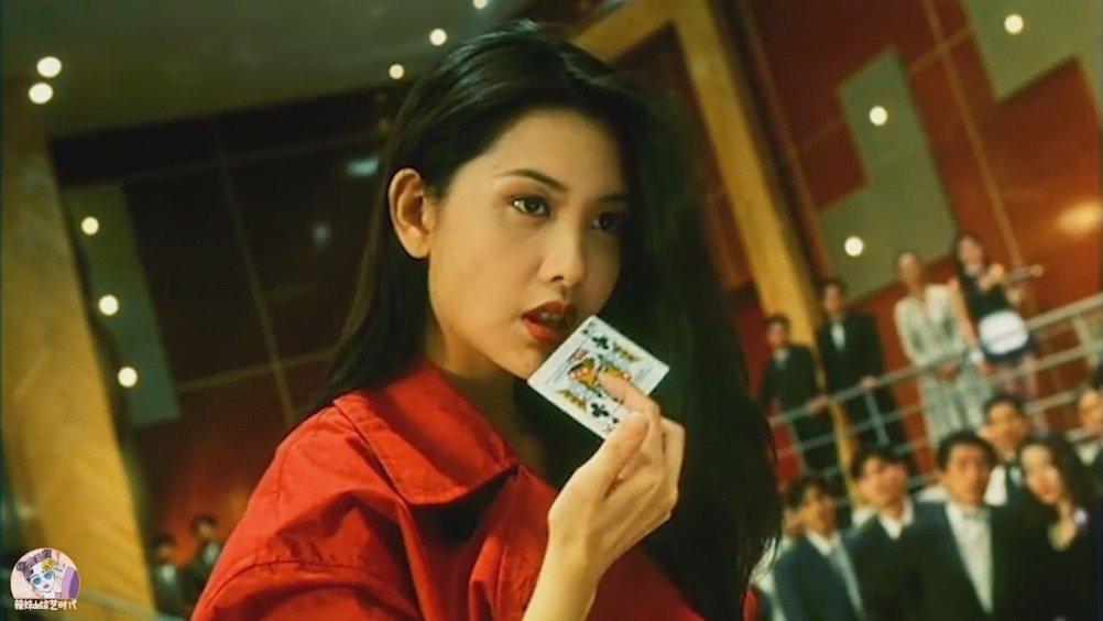 邱淑贞啊!!香港电影《赌神2》,美人经典咬牌片段(cr:B站)