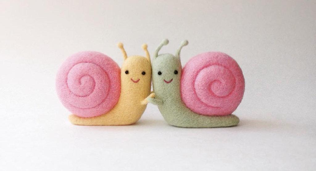 一组乌克兰艺术家 Hanna Dovhan 创作的羊毛毡小物,真的超级可爱啊