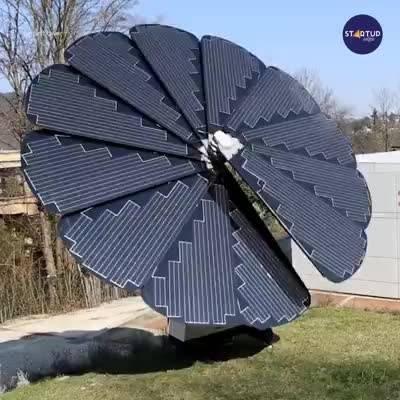 """传统材料也能向日!""""向日葵""""太阳能光伏发电设备智能收集太阳能"""