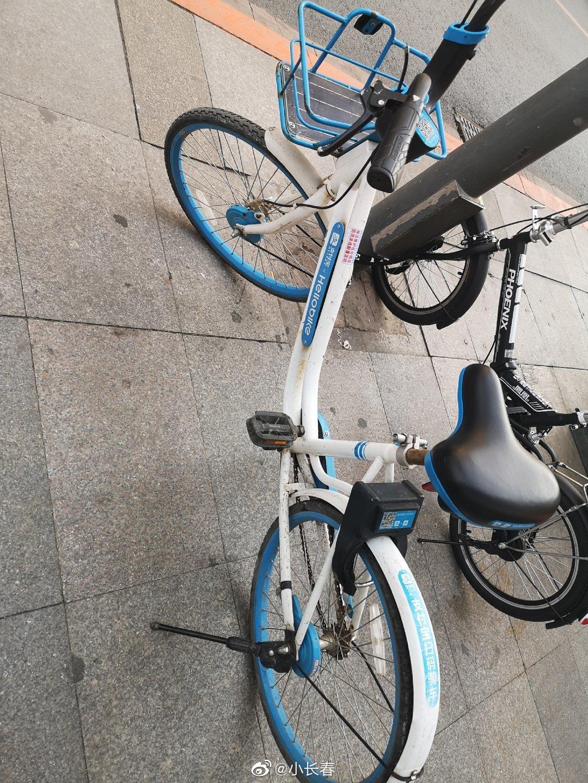 现在的共享单车不到半年就破旧不堪,车损,手刹,车座子,响铃