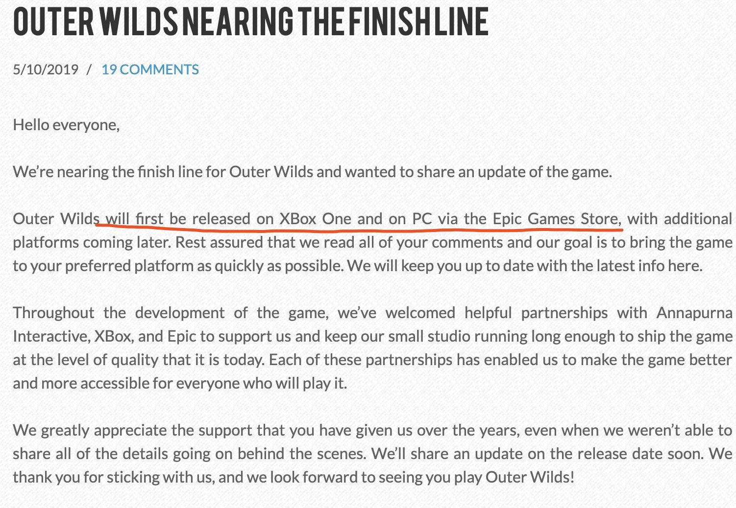 《星际拓荒(Outer Wilds)》曾获2015年IGF(独立游戏节)大奖