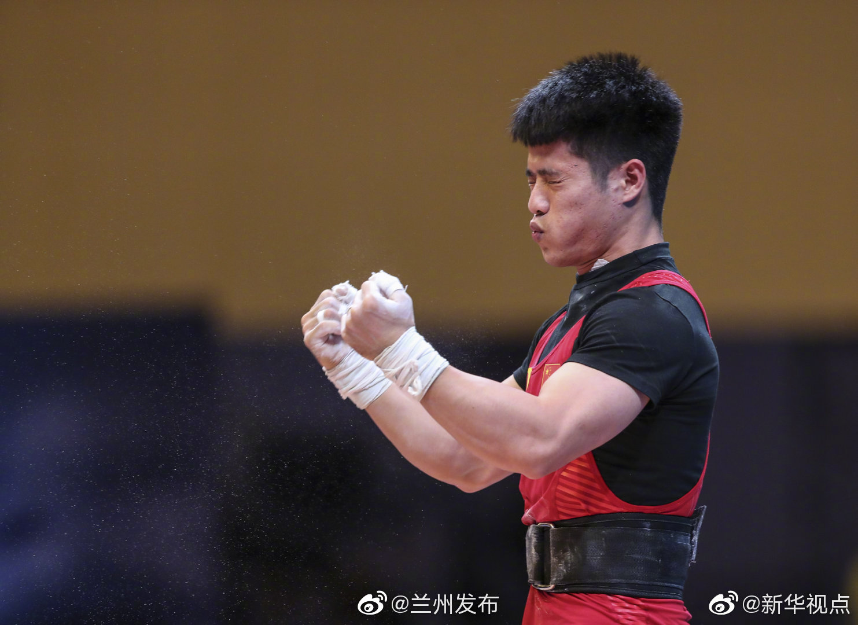 李发彬举重世锦赛破纪录霸气夺金